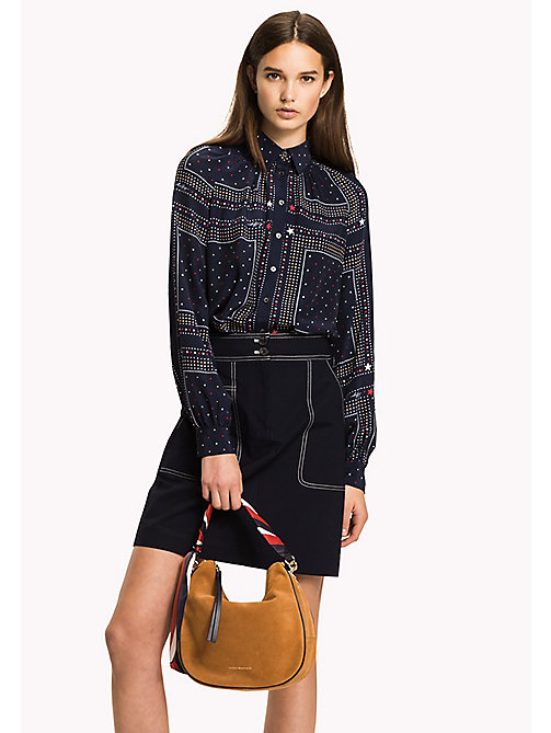 TOMMY HILFIGER Bandana Print Blouse - PATCHWORK BANDANA PRT / NAVY BLAZER - TOMMY HILFIGER The Office Edit - main image