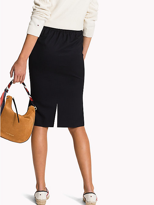 TOMMY HILFIGER Midi Fitted Pencil Skirt - MIDNIGHT - TOMMY HILFIGER Skirts - detail image 1