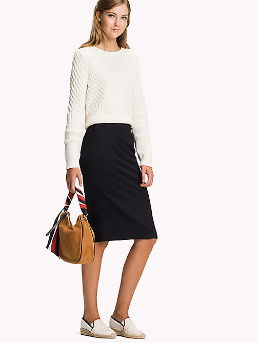Midi Fitted Pencil Skirt - MIDNIGHT - TOMMY HILFIGER Clothing - main image