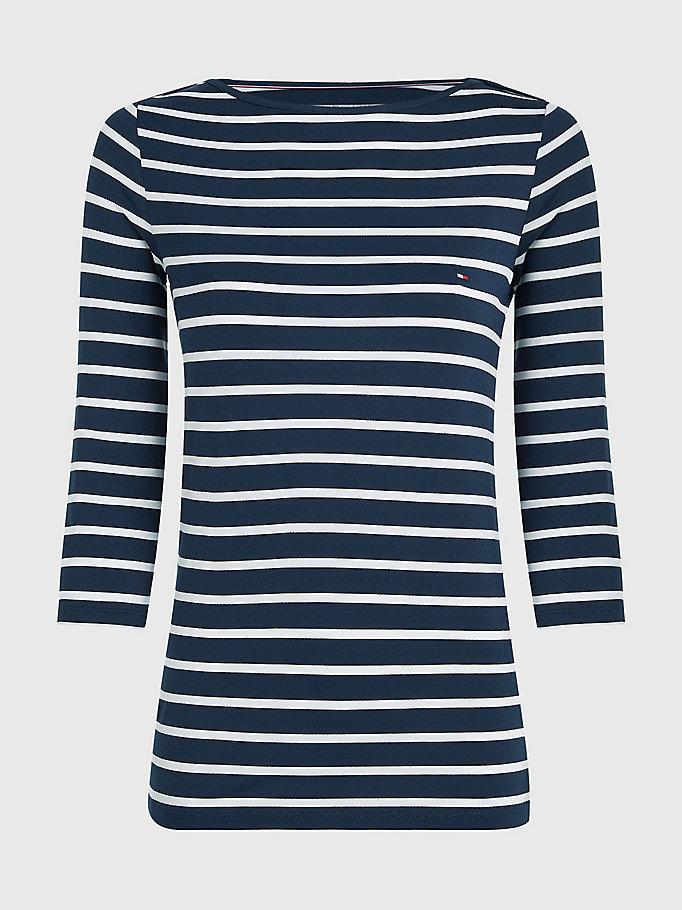 TOMMY HILFIGER DAMEN Shirt Longsleeve Maritim Gr S Gestreift