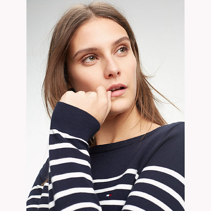TOMMY HILFIGER Stripe Jumper - MIDNIGHT / SNOW WHITE - TOMMY HILFIGER Women - detail image 2