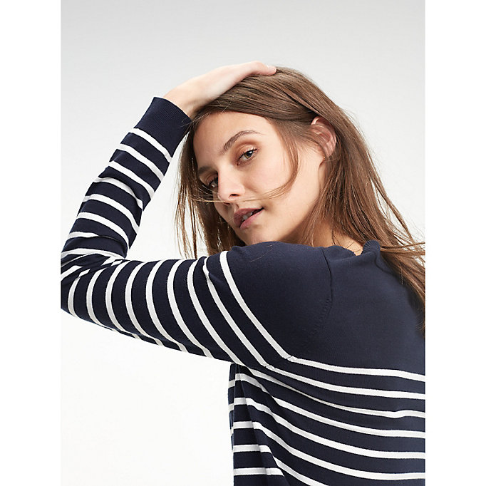 TOMMY HILFIGER Stripe Jumper - MIDNIGHT / SNOW WHITE - TOMMY HILFIGER Women - main image