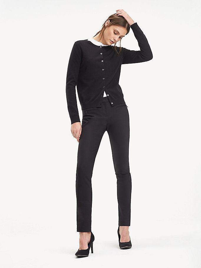 black heritage button-up cardigan for women tommy hilfiger