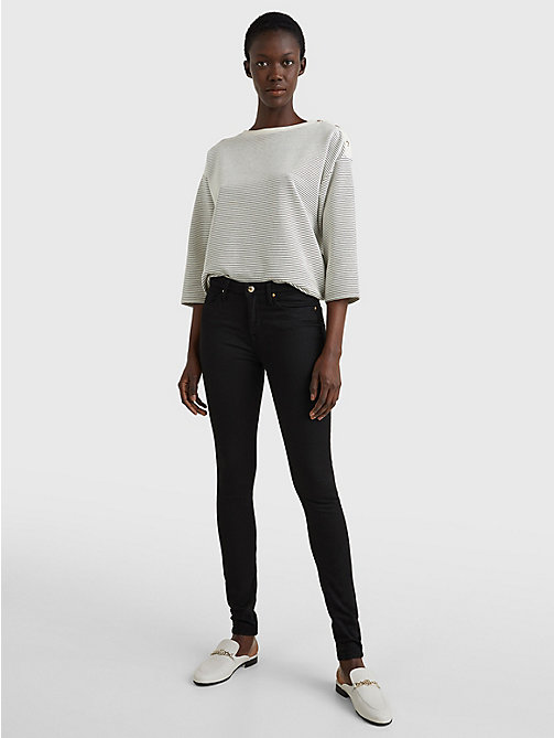 TOMMY HILFIGER Jeans in denim stretch performante - MASTERS BLACK - TOMMY HILFIGER Jeans Skinny - dettaglio immagine 1