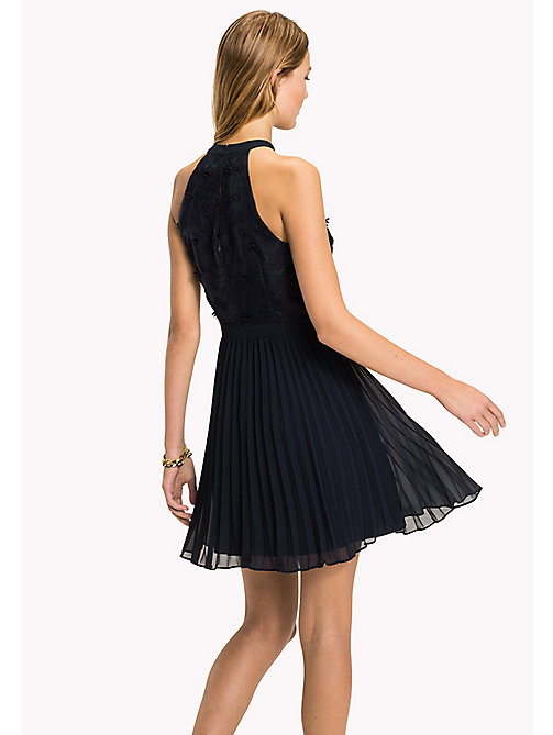 TOMMY HILFIGER Halterneck Flower Appliqué Dress - MIDNIGHT - TOMMY HILFIGER Occasion wear - detail image 1