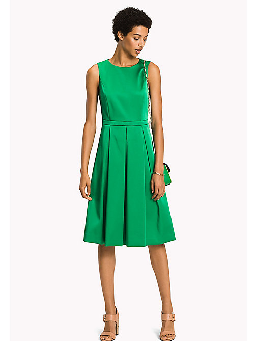 TOMMY HILFIGER Midi Fitted Dress - JELLY BEAN - TOMMY HILFIGER Occasion wear - main image