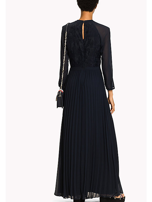 TOMMY HILFIGER Flower Appliqué Maxi Dress - MIDNIGHT - TOMMY HILFIGER Occasion wear - detail image 1