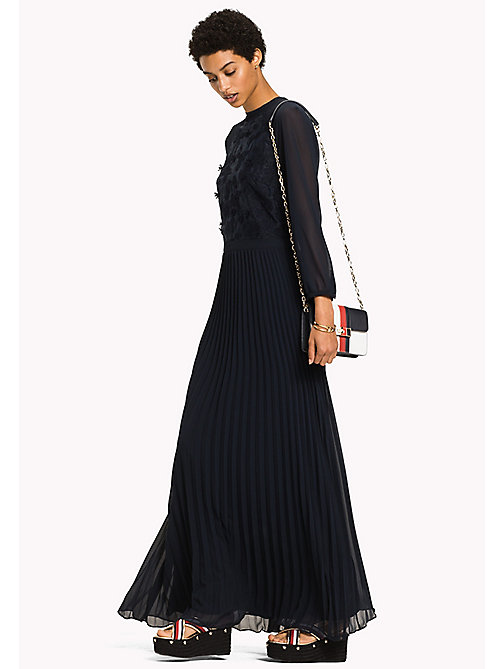 TOMMY HILFIGER Flower Appliqué Maxi Dress - MIDNIGHT - TOMMY HILFIGER Clothing - main image