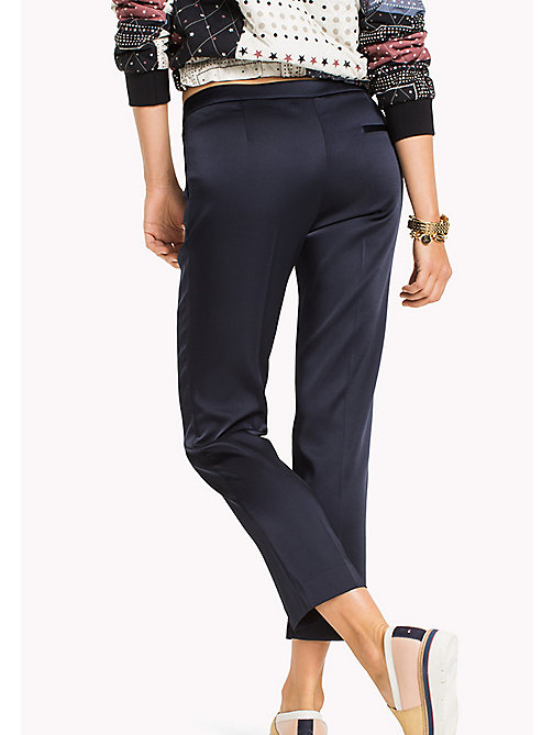 TOMMY HILFIGER Fitted Trousers - MIDNIGHT -  Women - detail image 1