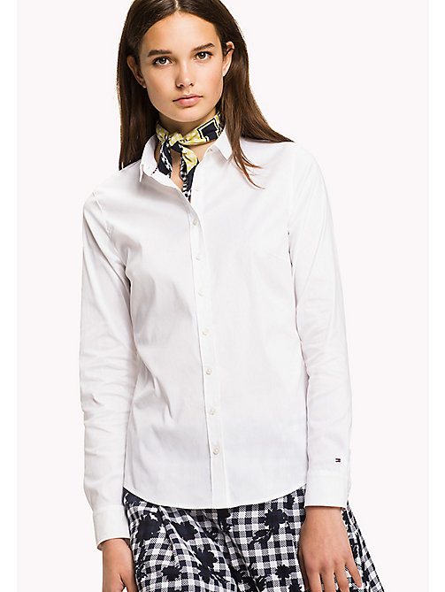 TOMMY HILFIGER Handkerchief Shirt - CLASSIC WHITE -  Occasion wear - main image