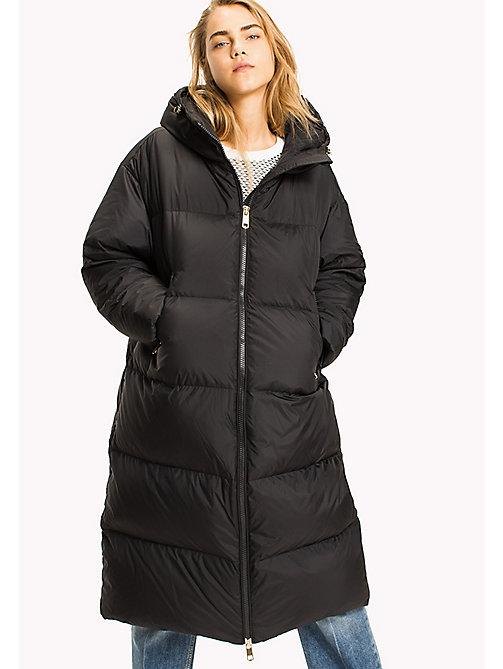 TOMMY HILFIGER COURTNEY MIDI PUFFER - BLACK BEAUTY - TOMMY HILFIGER Coats & Jackets - main image