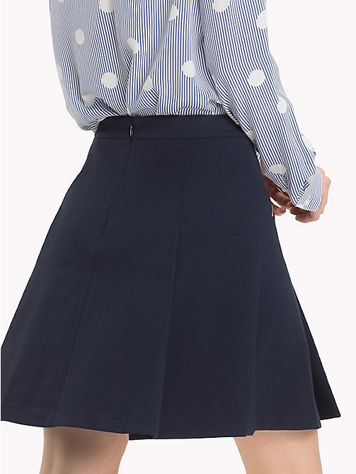 TOMMY HILFIGER NEW IMOGEN SKIRT W FRONT ZIP - MIDNIGHT - TOMMY HILFIGER Dresses & Skirts - detail image 1