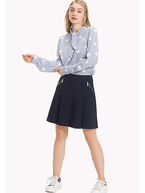 TOMMY HILFIGER NEW IMOGEN SKIRT W FRONT ZIP - MIDNIGHT - TOMMY HILFIGER Spódnice - main image