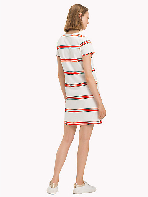 TOMMY HILFIGER Stripe Crew Neck Dress - YARN DYED STP / FIESTA - TOMMY HILFIGER Midi - detail image 1