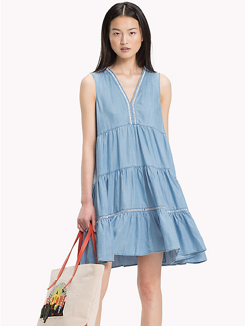 TOMMY HILFIGER Sleeveless Denim Dress - MABRY - TOMMY HILFIGER Mini - main image