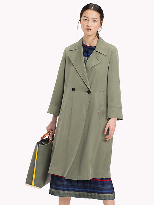 TOMMY HILFIGER Trench Coat - FOUR LEAF CLOVER - TOMMY HILFIGER Sale Women - main image
