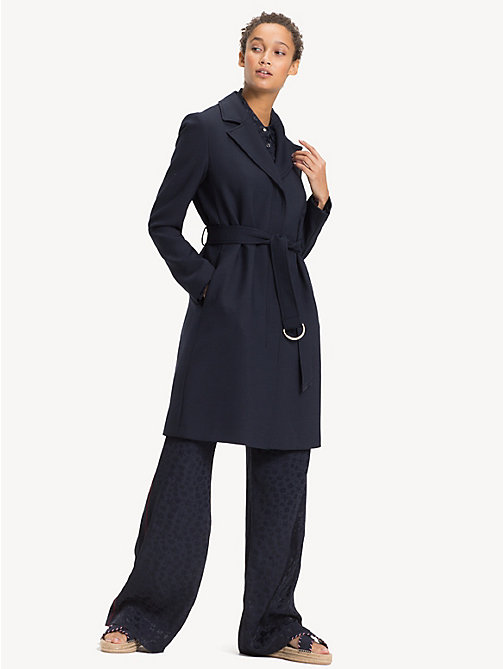 TOMMY HILFIGER Lightweight Trench Coat - MIDNIGHT - TOMMY HILFIGER Sale Women - detail image 1