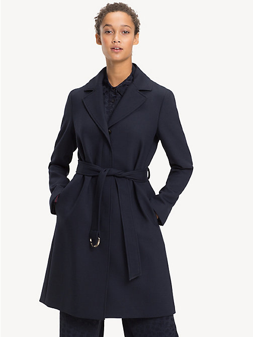 TOMMY HILFIGER Leichter Trenchcoat - MIDNIGHT - TOMMY HILFIGER Clothing - main image