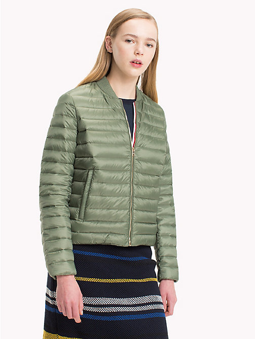 TOMMY HILFIGER Quilted Jacket - FOUR LEAF CLOVER - TOMMY HILFIGER Sustainable Evolution - main image