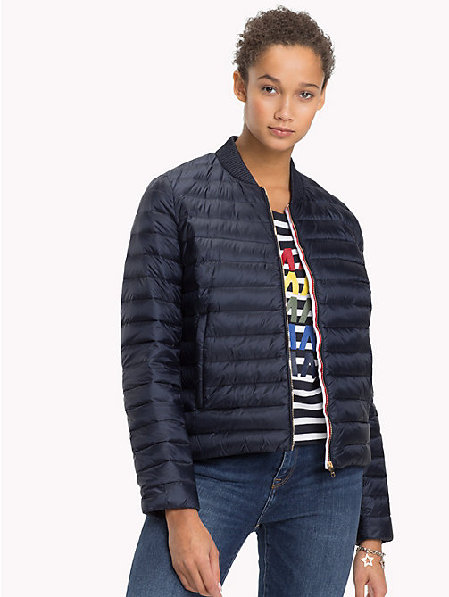TOMMY HILFIGER Quilted Jacket - MIDNIGHT - TOMMY HILFIGER Sustainable Evolution - main image