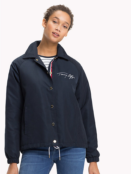 TOMMY HILFIGER Coach Handwriting Logo Jacket - MIDNIGHT - TOMMY HILFIGER NEW IN - main image