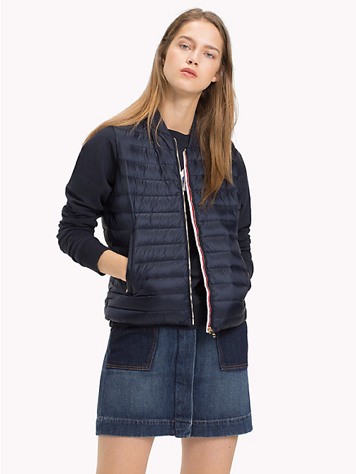 TOMMY HILFIGER Quilted Vest Jacket - MIDNIGHT - TOMMY HILFIGER Sustainable Evolution - main image
