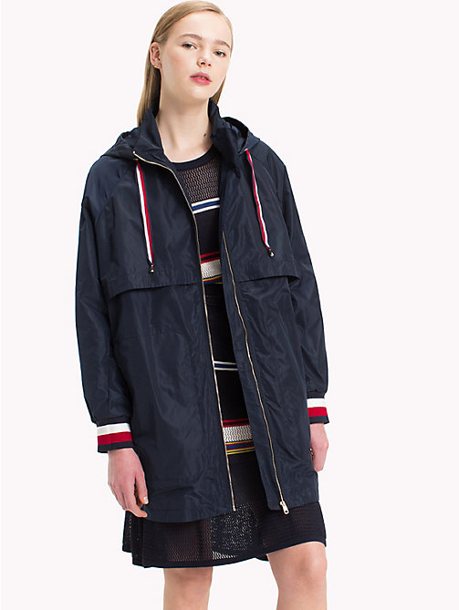 TOMMY HILFIGER Long Parka Jacket - MIDNIGHT -  Clothing - main image