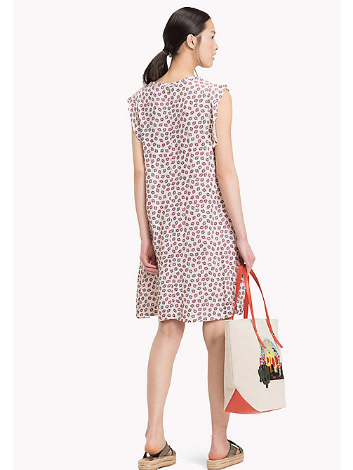 TOMMY HILFIGER PILLAR DRESS SS - MINI LEAF PRT / TAPIOCA - TOMMY HILFIGER Mini - detail image 1