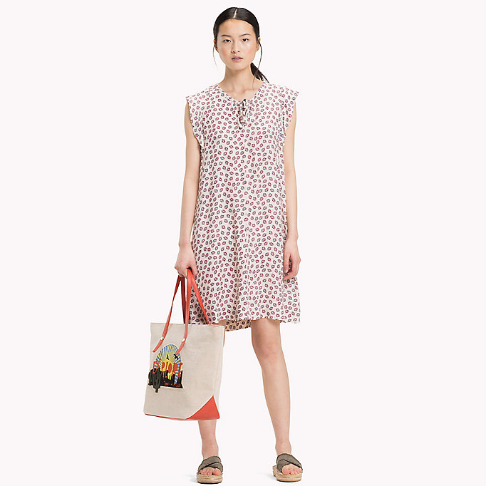 TOMMY HILFIGER PILLAR DRESS SS - MINI LEAF PRT / FIESTA - TOMMY HILFIGER Women - main image