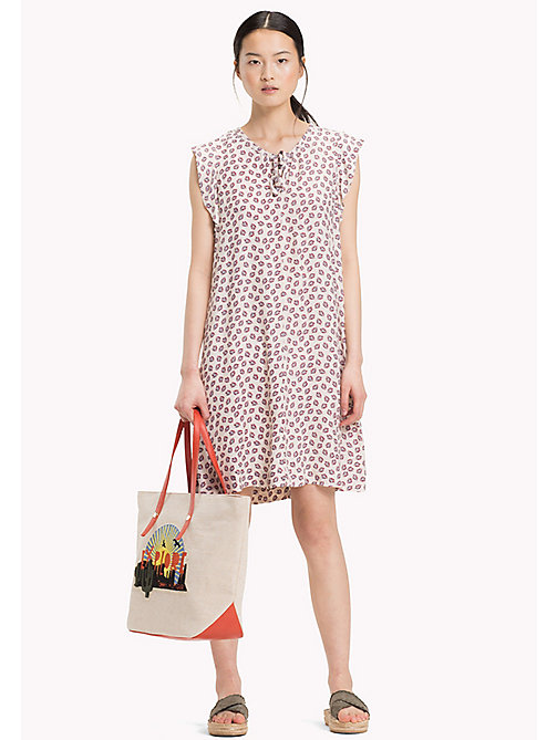 TOMMY HILFIGER PILLAR DRESS SS - MINI LEAF PRT / TAPIOCA - TOMMY HILFIGER Mini - main image