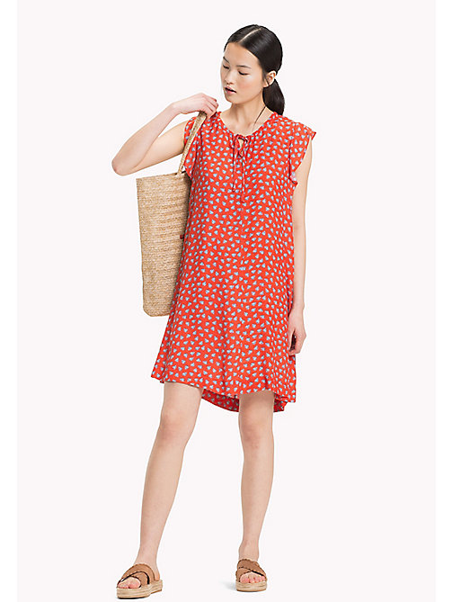TOMMY HILFIGER Leaf Print Dress - MINI LEAF PRT / FIESTA - TOMMY HILFIGER Vacation Style - main image
