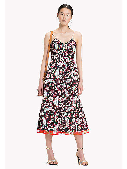 TOMMY HILFIGER Tropical Print Dress - TROPICAL PRT / BLACK BEAUTY - TOMMY HILFIGER Occasion wear - main image