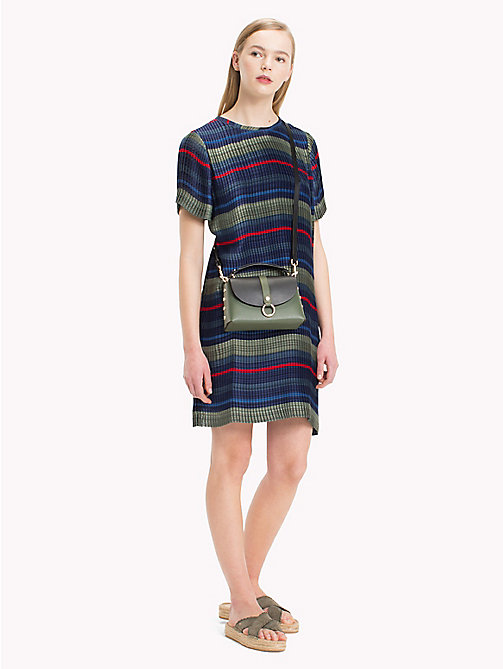 TOMMY HILFIGER Jurk met multicolorstreep - ALL OVER STP - TOMMY HILFIGER Kort - main image