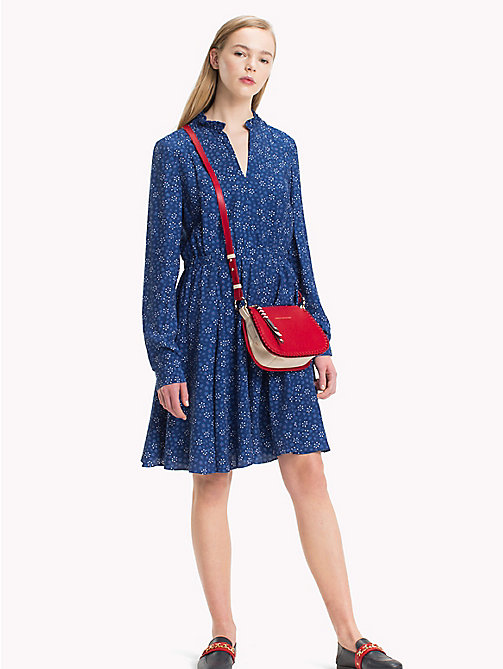 TOMMY HILFIGER Floral Print V-Neck Dress - DITSY FLORAL / NAVY PEONY - TOMMY HILFIGER Mini - main image