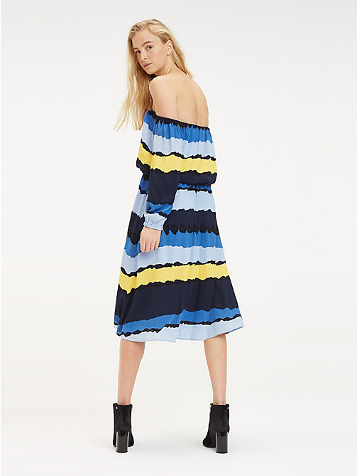 TOMMY HILFIGER Tie Dye Midi Dress - TIE DYE STP / SKY CAPTAIN - TOMMY HILFIGER Vacation Style - detail image 1