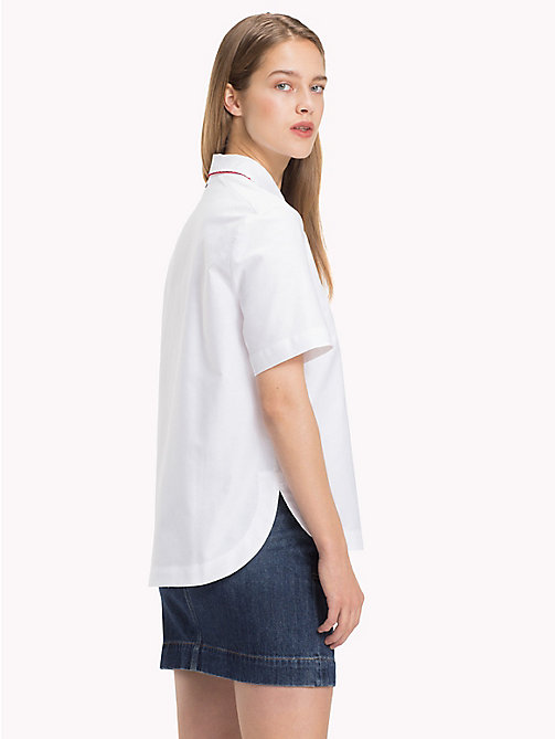 TOMMY HILFIGER Scalloped Cotton Shirt - CLASSIC WHITE - TOMMY HILFIGER Shirts - detail image 1