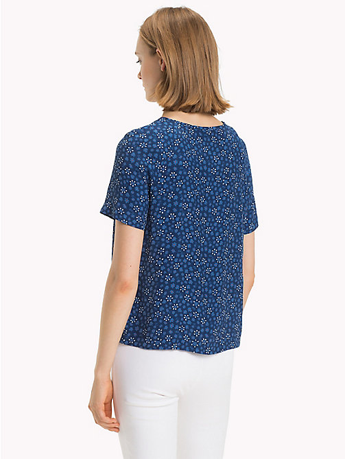 TOMMY HILFIGER Boat Neck Top - DITSY FLORAL / NAVY PEONY - TOMMY HILFIGER Tops - detail image 1