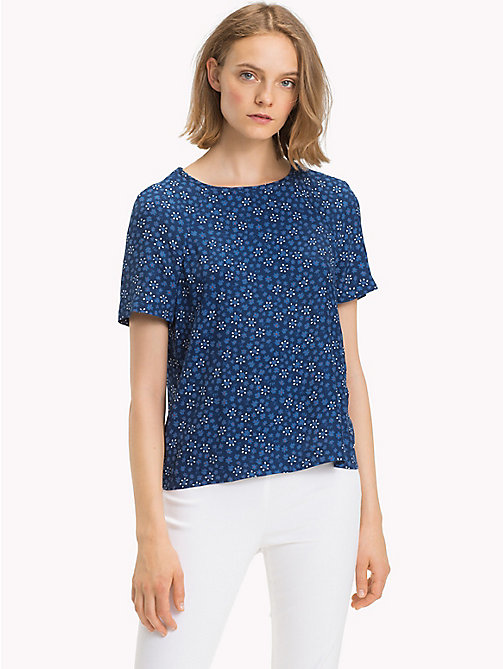 TOMMY HILFIGER Boat Neck Top - DITSY FLORAL / NAVY PEONY - TOMMY HILFIGER Tops - main image