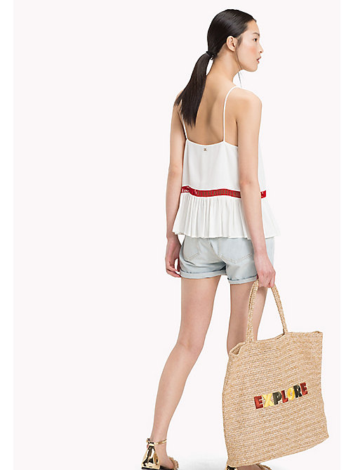 TOMMY HILFIGER Contrast Ladder Detail Strappy Top - SNOW WHITE - TOMMY HILFIGER Vacation Style - detail image 1
