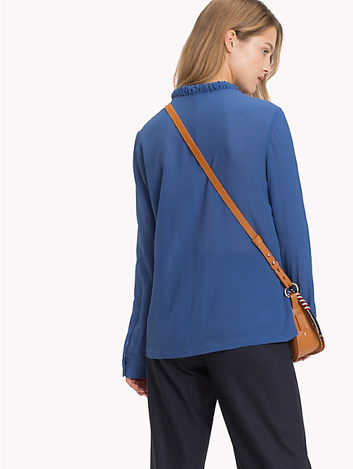 TOMMY HILFIGER Colour-blocked zijden blouse - BRIGHT COBALT - TOMMY HILFIGER Blouses - detail image 1