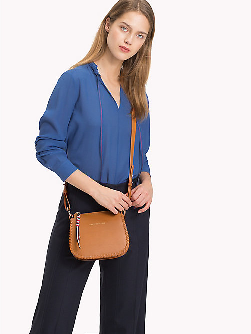 TOMMY HILFIGER Colour-blocked zijden blouse - BRIGHT COBALT - TOMMY HILFIGER Blouses - main image