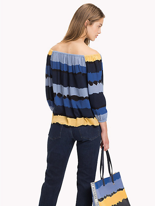 TOMMY HILFIGER Top off-the-shoulder - TIE DYE STP / SKY CAPTAIN - TOMMY HILFIGER Moda Mare - dettaglio immagine 1