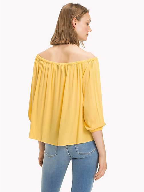 TOMMY HILFIGER Off-shouldertop - SAMOAN SUN -  NIEUW - detail image 1