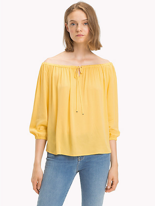 TOMMY HILFIGER Off-The-Shoulder Top - SAMOAN SUN - TOMMY HILFIGER NEW IN - main image