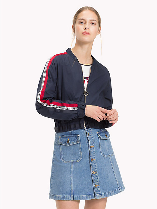 TOMMY HILFIGER Signature Tape Detail Bomber Jacket - MIDNIGHT - TOMMY HILFIGER Clothing - main image