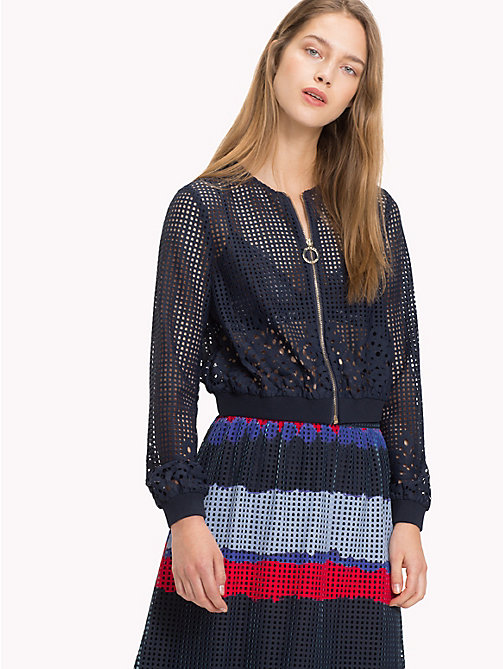 TOMMY HILFIGER Bomber in pizzo floreale - MIDNIGHT - TOMMY HILFIGER Occasion wear - immagine principale