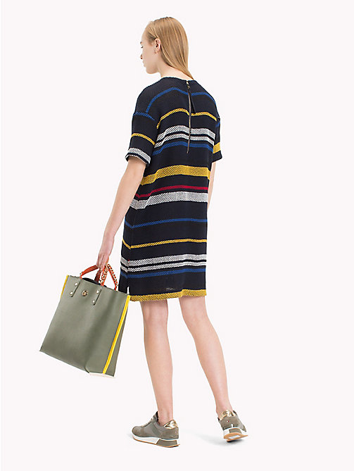 TOMMY HILFIGER Striped Mesh T-Shirt Dress - ETHNIC STP / SKY CAPTAIN -  Mini - detail image 1