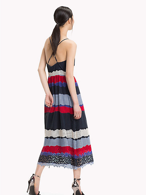 TOMMY HILFIGER Entredeux Lace Midi Dress - LACE TIE DYE STP / SKY CAPTAIN -  Occasion wear - detail image 1