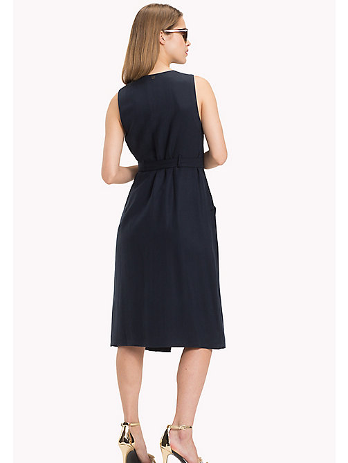 TOMMY HILFIGER V-Neck Wrap Around Dress - MIDNIGHT - TOMMY HILFIGER Midi - detail image 1