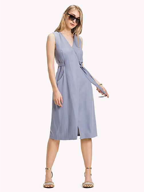 TOMMY HILFIGER V-Neck Wrap Around Dress - EVENTIDE - TOMMY HILFIGER Midi - main image